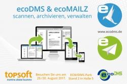 ecoDMS kündigt E-Mailarchiv ecoMAILZ an & ecoDMS mit Partnern auf…