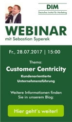 "Live-Webinar ""Customer Centricity"" beim DIM"