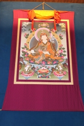 Zu verkaufen – 4,5 Meter langes buddhistisches Rollbild Padmasambhava