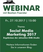 "Live-Webinar ""Social Media Marketing Studie 2017"""
