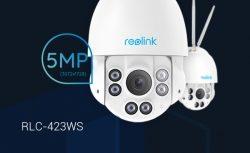 Reolink Produktneuheit: RLC-423WS – die drahtlose 5MP Dualband-WLAN Überwachungskamera mit PTZ-Funktion