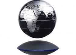 Freischwebender Globus mit beleuchteter Magnet-Schwebebasis, Ø 14 cm