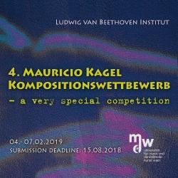 Ausschreibung: 4. Mauricio Kagel Kompositionswettbewerb