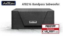 Kompakt, gut, preiswert – der neue AXTON Subwoofer ATB216