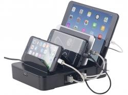 revolt 6-fach-Ladestation mit 5-Port-USB-Netzteil