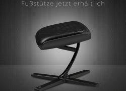 NEU bei Caseking – noblechairs Fußstützen mit perfekter Ergonomie und edlem Design.