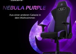 BRANDNEU bei Caseking – Der Nitro Concepts S300 Gaming-Stuhl in Nebula Purple.