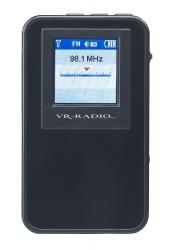 Digitales DAB+/FM-Taschenradio DOR-320.min mit Akku, Stereo-Ohrhörern, Farbdisplay