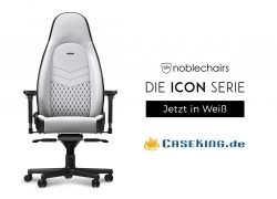 Exklusiv bei Caseking: noblechairs ICON – Der beste Gaming-Stuhl 2018 wird zur strahlend weißen Ikone.