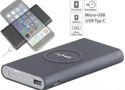 revolt Qi-kompatible USB-Powerbank PB-800.qi
