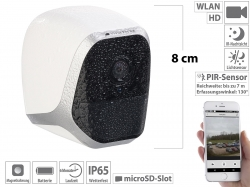 VisorTech IP-HD-Überwachungskamera IPC-580 mit App, IP65