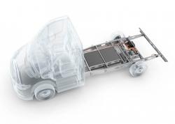 Weltneuheit: Hybrid Power Chassis für leichte Nutzfahrzeuge