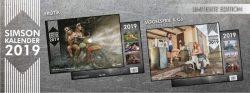 Kultverdächtig – Die neuen Simson Kalender 2019 sind da.