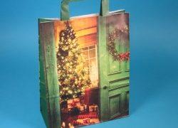 Umweltfreundliche Papiertragetaschen und Geschenktüten mit Weihnachtsmotiv