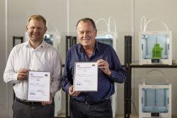 Ultimaker erhält Zertifizierungen nach ISO 9001 und ISO 14001