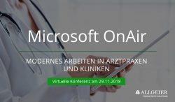 Digitalisierung im Health Care Sektor – Allgeier spricht auf der virtuellen Microsoft Konferenz