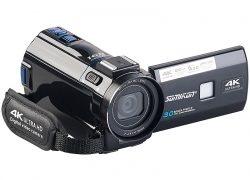 4K-UHD-Camcorder DV-880.uhd mit Panasonic-Sensor, WLAN, App, HD mit 120 B/Sek.