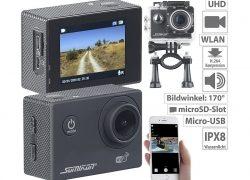 Somikon UHD-Action-Cam DV-3717 mit WLAN