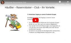 Rasenroboter-Club ist gestartet