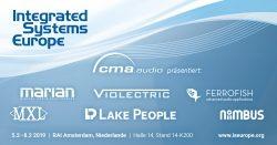 cma audio präsentiert auf der ISE 2019 Highlights der Marken Ferrofish, Lake People, Violectric, Niimbus, MARIAN und MXL