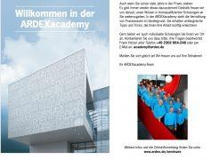 Fach- und Verkaufswissen erweitern: mit den neuen Seminaren der ARDEXacademy