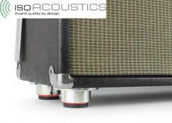 IsoAcoustics Stage 1: Entkoppler für Gitarren- und Bass-Amps sorgen für gleichbleibend guten Sound auf der Bühne und im Studio