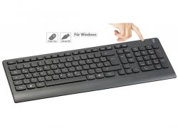 GeneralKeys USB-Standardtastatur mit 360°-Finger-Scanner