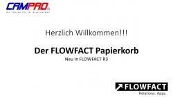 Der neue FLOWFACT Papierkorb