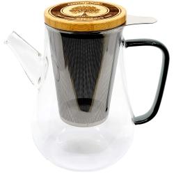 Teekanne mit Siebeinsatz, Teekanne mit Sieb