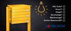 Briefkastenanlagen direkt beim Hersteller konfigurieren