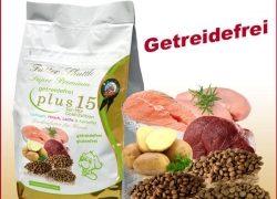 Getreidefreies Hundefutter. Gold-Edition. Mit 15 Pluspunkten
