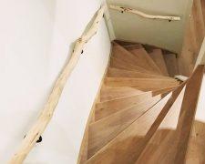 Neu: Trendige Baumstamm-Handläufe