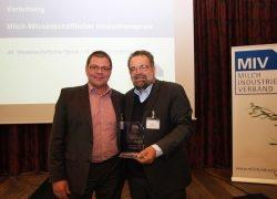 MIV zeichnet Tierphysiologen aus –  Verleihung Milch-Wissenschaftlicher Innovationspreis 2019 an Herrn Prof. Michael W. Pfaffl