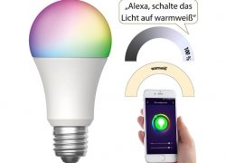 Luminea Home Control WLAN-LED-Lampe LAV-170.rgbw