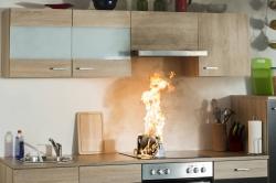 Jeder fünfte Wohnungsbrand entsteht auf dem Küchenherd