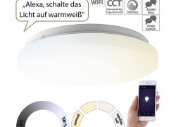 Luminea Home Control WLAN-LED-Deckenleuchte, 36 Watt