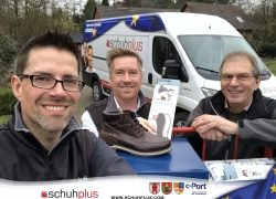 schuhplus und Gore Tex Brand spenden Schuhe von FretzMen an Wohnungslose in Delmenhorst