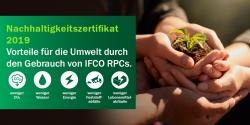 IFCO verleiht zum dritten Mal in Folge jährliches Nachhaltigkeitszertifikat an…