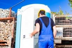 Mobile Toilettenkabine bzw. Baustellentoilette