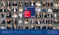 Ausgezeichnete Unternehmens- und Arbeitsplatzkultur: QUNIS ist Top-3 Arbeitgeber in der ITK-Branche