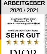 Erste Auszeichnung als Top Arbeitgeber (DIQP) in ganz Brandenburg