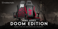Neu: noblechairs HERO Series DOOM Edition Gaming-Stuhl!