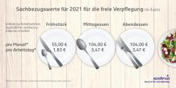 Sodexo: Sachbezugswert für Verpflegung steigt 2021 auf 3,47 Euro