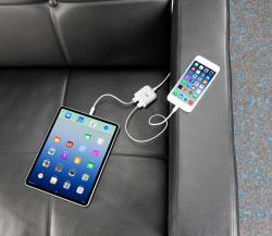 revolt 2-Port-USB-Netzteil mit 150-cm-Kabel