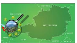 Österreichisches Tal mit Zauber und Magie gegen Corona