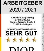 Top Arbeitgeber (DIQP) für die Karanfil Engineering GmbH & Co. KG
