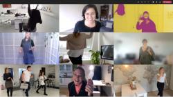 Jerusalema-Challenge: Assistenzen tanzen virtual Flashmop