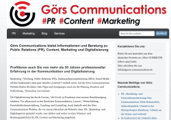 Görs Communications bietet Informationen und Beratung zu PR, Content, Marketing…