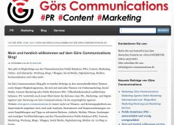 Besuchen Sie den Görs Communications Blog zu PR-, Content-, Marketing- und Digitalisierungsthemen