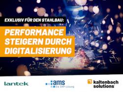 Online-Event für den Stahlbau: Performance steigern durch Digitalisierung